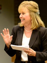 """Beverly Absher, Union University chairwoman of the Department of Continuing Studies, presented """"What Is Your Emotional Intelligence"""" during the Jackson Area Business and Professional Women's Brown Bag Lunch on Monday."""