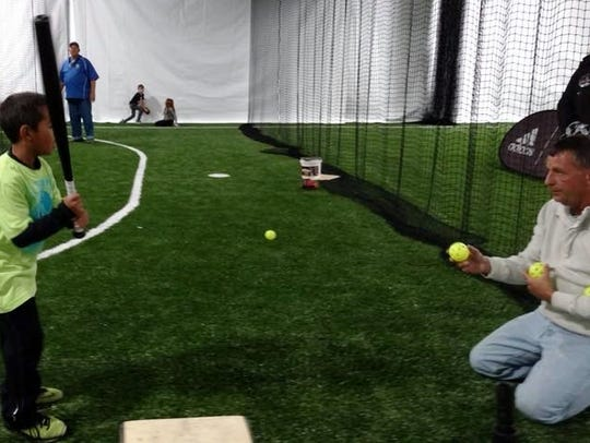Principal owner Ted Benedetto says the Cincy Sports Nation facility is large enough to accommodate indoor baseball workouts.