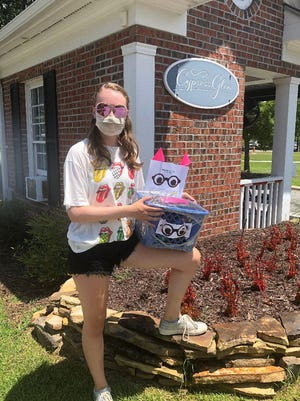 "Parrott student Haynes Lewis collects used eyeglasses for ""Project 2020."