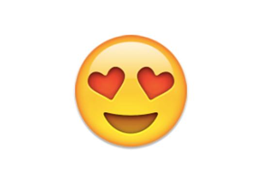 The beloved heart eye emoji.