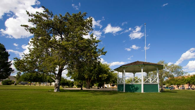 The Town Park is the heart and soul of the quiet community of Clarkdale.