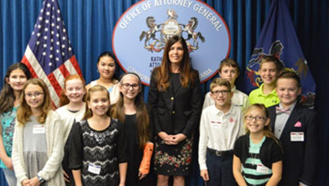John Forjan of Sinking Springs Elementary School in York was among the winners of the Office of Attorney General's 19th annual Drug-Free Calendar Contest.