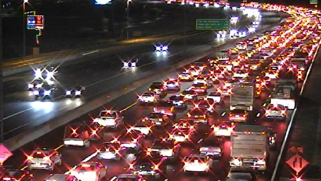 An Arizona Department of Public Safety officer was injured in a wreck on Loop 101 near 90th Street on Dec. 16, 2016.