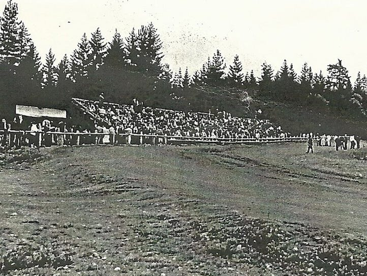 Bleachers at the old Silverdale Speedway.