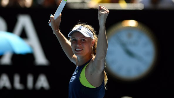 Caroline Wozniacki is into the final at the Australian