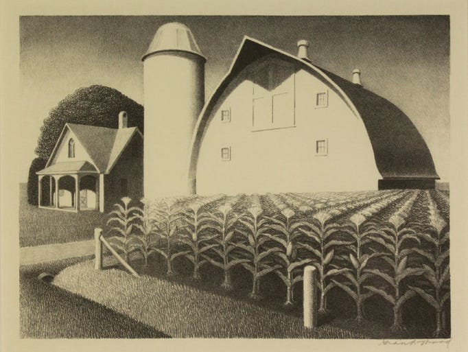 Grant Wood, Fertility, 1939, lithograph. Collection