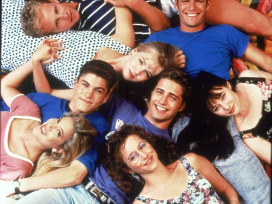 The original cast of 'Beverly Hills 90210.'