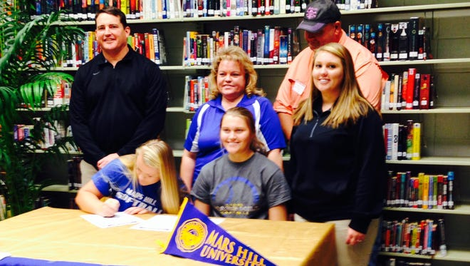 North Buncombe senior Cassidy Allen has signed to play college softball for Mars Hill.