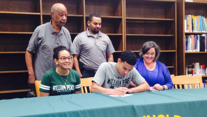 Reynolds senior Josh Jones has signed to play college basketball for William Peace.