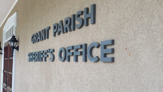 A Grant Parish school was on lockdown Wednesday afternoon after a person was shot nearby.