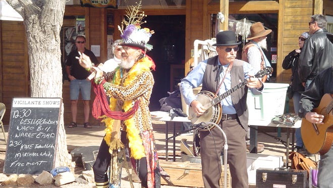 Reenactors in period costumes will stage mock gunfights and other recreations of the Wild West.