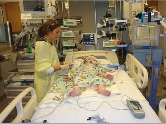 Katie Lalor undergoes surgery for hypoplastic left