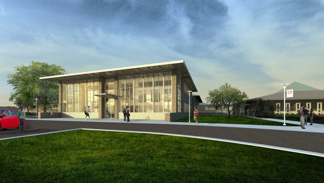 An illustration of the Everett Roehl STEM building, now under construction at the University of Wisconsin-Marshfield/Wood County.