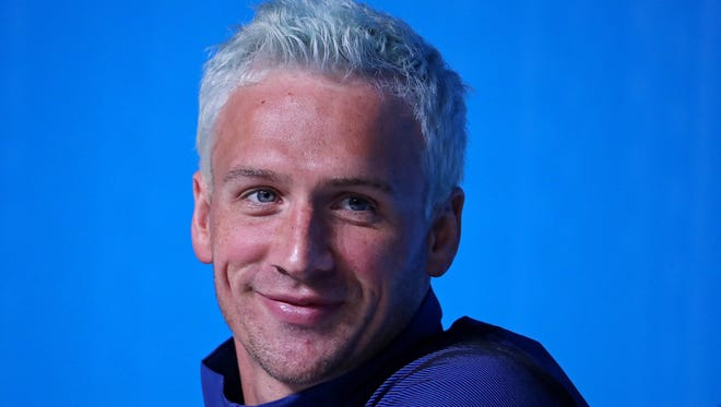 Ryan Lochte during a press conference before the 2016 Rio Olympic Games on Aug. 3.