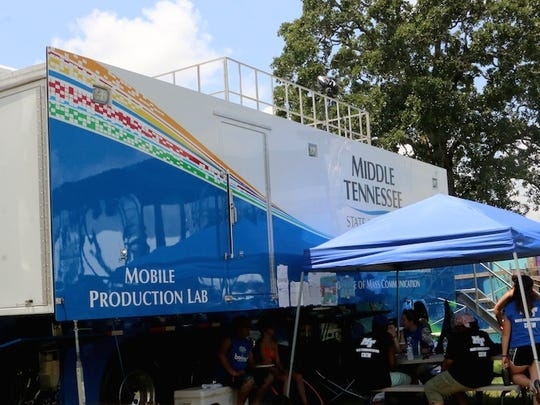 MTSU student workers gained real world experience at this years Bonnaroo Music and Arts Festival working alongside professionals in the field at the Who Stage with their Mobile Production Lab.