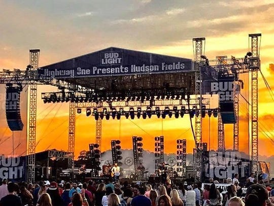 The first act for the Hudson Fields 2017 concert series on June 1 was Nashville-based country rock five-pieceband Old Dominion, the reigning Academy of Country Music AwardsNew Group of the Year.