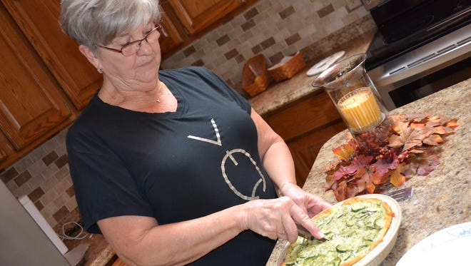 Lynn Shupe quickly learned how to cook after her father died when she was just seven years old. While her mother tended to farm chores, she stayed indoors with her grandmother to clean the house and cook for the family of nine. She still enjoys cooking today, and one of her favorites is Zucchini Quiche.