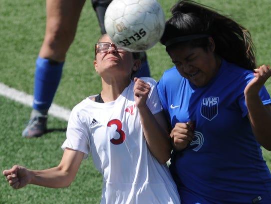Cooper's Jocelyn Rangel (3) battles San Angelo Lake