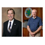 Santa Rosa County Commissioner Bob Cole, left, and Commissioner Jim Melvin, right.