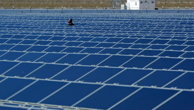 A Secret Service agent is seen at Sempra U.S. Gas & Power's Copper Mountain Solar 1 facility before a speech by U.S. President Barack Obama at the largest photovoltaic solar plant in the United States on March 21, 2012 in Boulder City, Nevada.