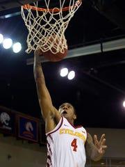 Iowa State Cyclones guard Donovan Jackson (4) goes