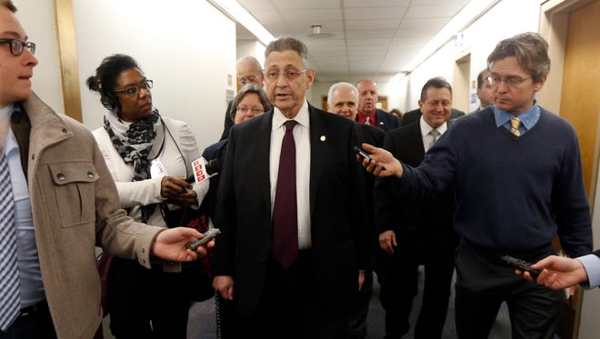 Assembly Speaker Sheldon Silver, D-Manhattan, talks to the media after leaving his office in the Legislative Office Building on last week.