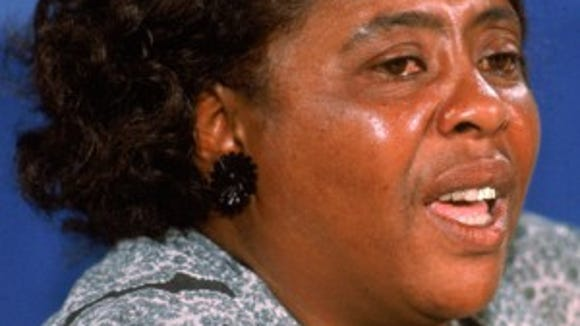 Fannie Lou Hamer testifies before the Credentials Committee of the 1964 Democratic National Convention.