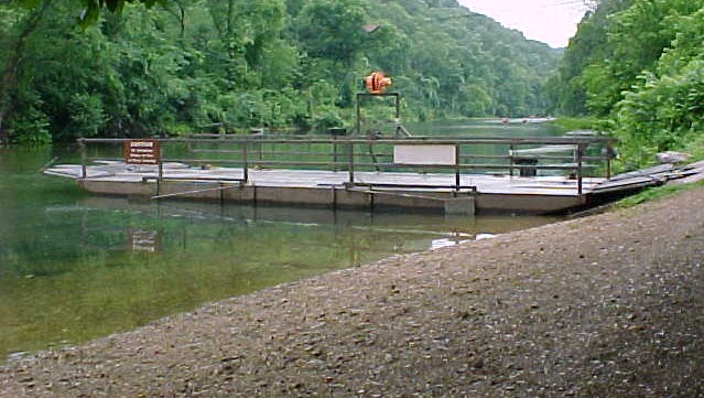 Akers Ferry, which transports cars and people across the Current River, will soon resume service.
