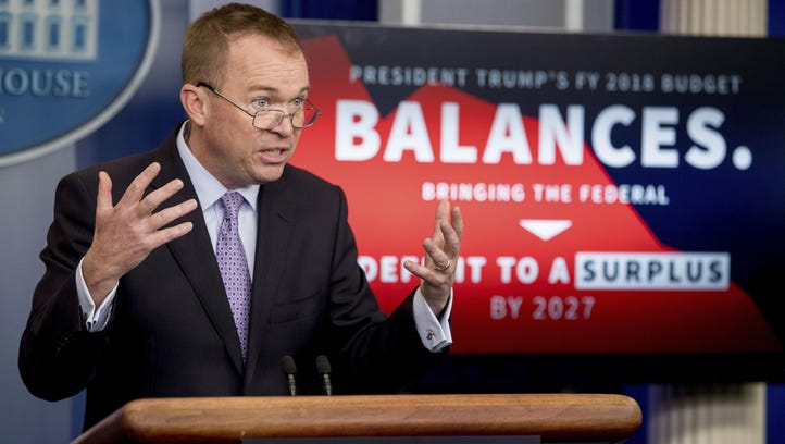 Budget Director Mick Mulvaney at the White House on