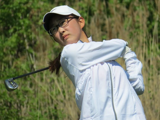 Sophomore Gio Kim leads the Northern Highlands girls' golf team.