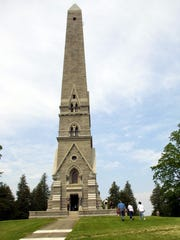 The Saratoga Battlefield Monument in Victory is a 155-foot