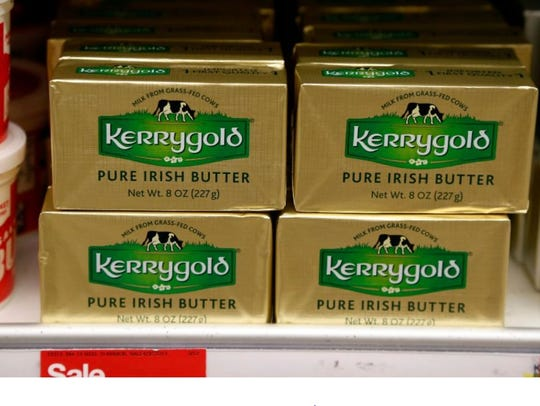 A supply of Kerrygold Pure Irish Butter sits amidst