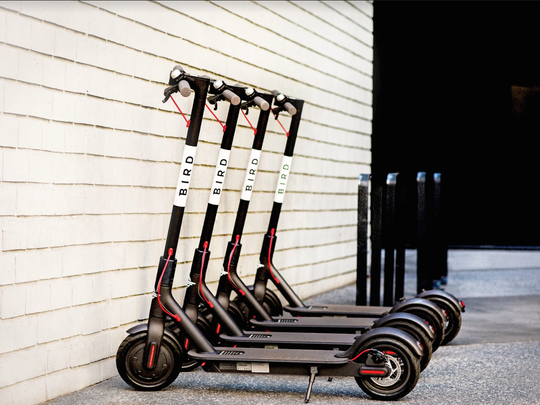 A picture of the type of electric scooters now on the streets of Tempe and Scottsdale.