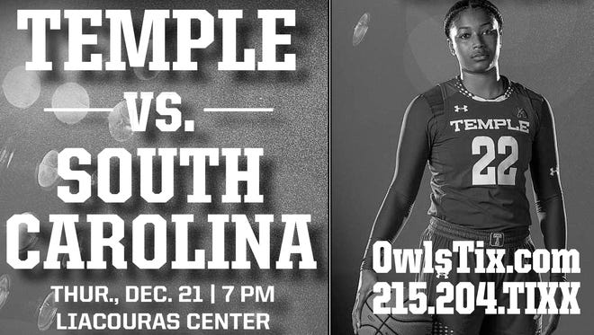 Enter for your chance to win tickets to the Temple vs. South Carolina on December 21st, 2017 from the Courier-Post!