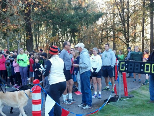 Photo from the start of a previous Jeff Silbernagel Fun Run by Statesman Journal.