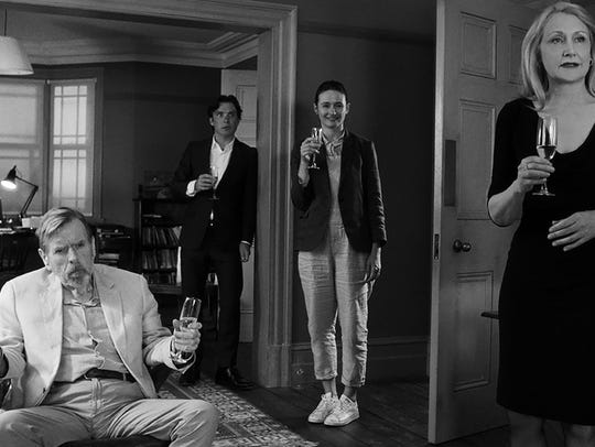 The guests - Timothy Spall (from left), Cillian Murphy,