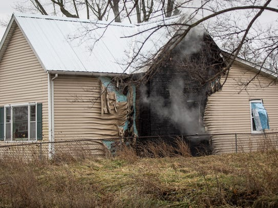 Muncie firefighters respond to the third fire in a