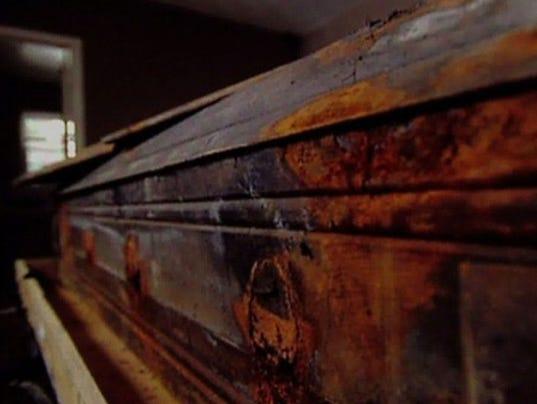 Original casket belonging to Lee Harvey Oswald