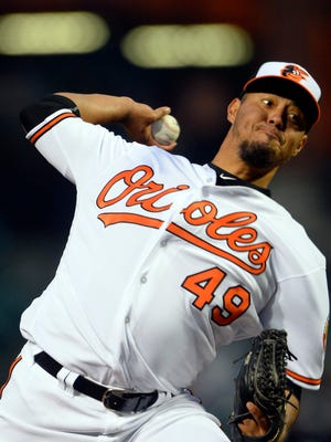 Right-hander Yovani Gallardo went 6-8 for Baltimore last season with a 5.42 ERA in 23 starts. He had made at least 30 starts in each of the previous six seasons.