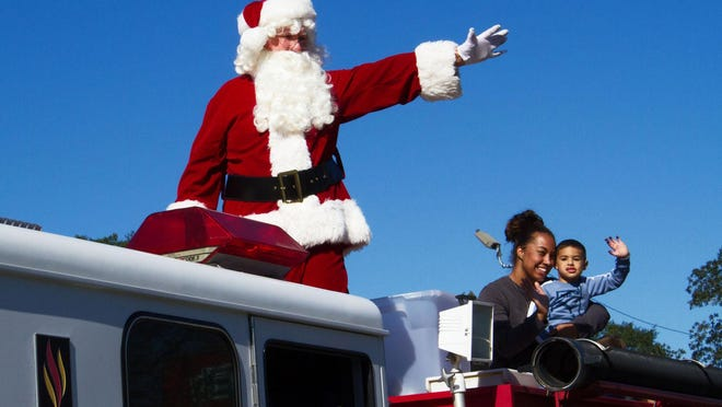 Santa in a Rincon Christmas parade.