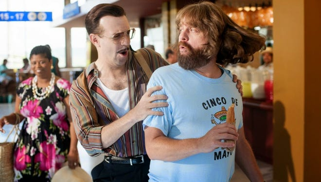 """""""Masterminds"""" stars Wilkesboro-born actor Zach Galifianakis and was shot locally in downtown Asheville, Waynesville and other regional locales. This particular scene was shot inside the U.S. Cellular Center."""