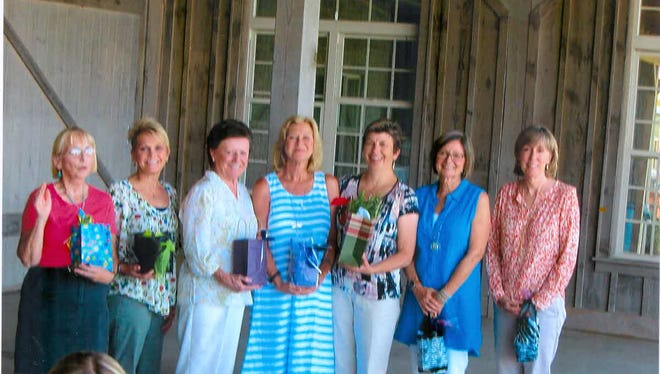 2017-2018 Officers for the Foothills Garden Club: Debbie Durland, treasurer; Jean Uhlman, secretary; Sharon Brosnan and Melissa wagar, co-chairs for programs; Barbara Zascharczyk, president; and Laurie McClusky and Dottie Corey, membership co-chairs.