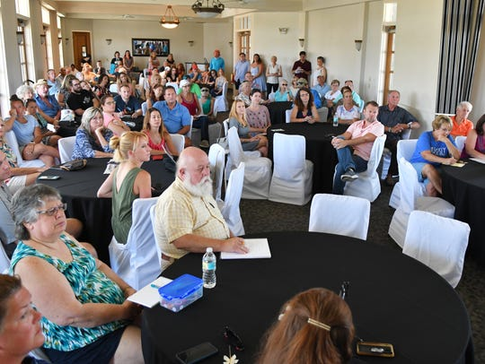 Over 80 people turned out for a concerned citizens