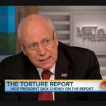 Former vice president Dick Cheney on Sunday.