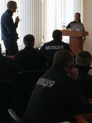 Reno Police Officer Amanda Hartshorn leads a training