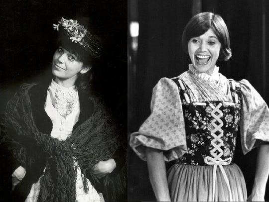 Susan Watson as Eliza in 'My Fair Lady left and as