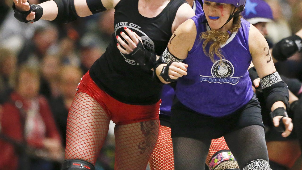 We put a GoPro on Angie Pratt (Anghel X) of the Electric City Roller GrrrlZ.