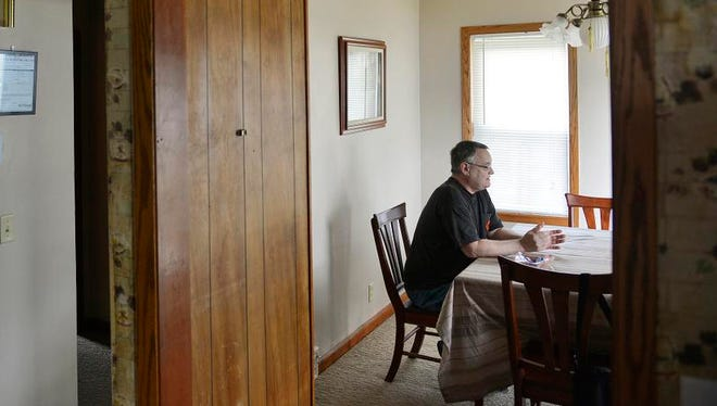 Dennis Martin talks Wednesday, Aug. 20 about his goals and his path from homelessness to living in VA Transitional Housing in St. Cloud.