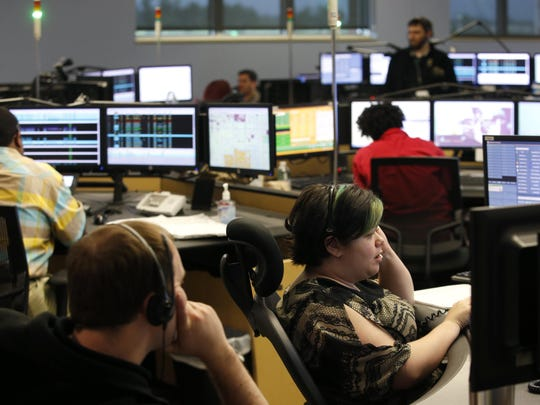 Operators answer emergency calls from the Consolidated Dispatch Agency.
