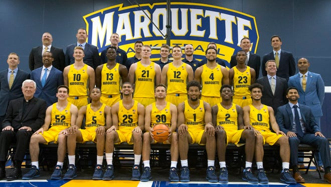 The Marquette men's basketball team faced Northwestern in a closed-door scrimmage at the BMO Harris Bradley Center on Saturday.